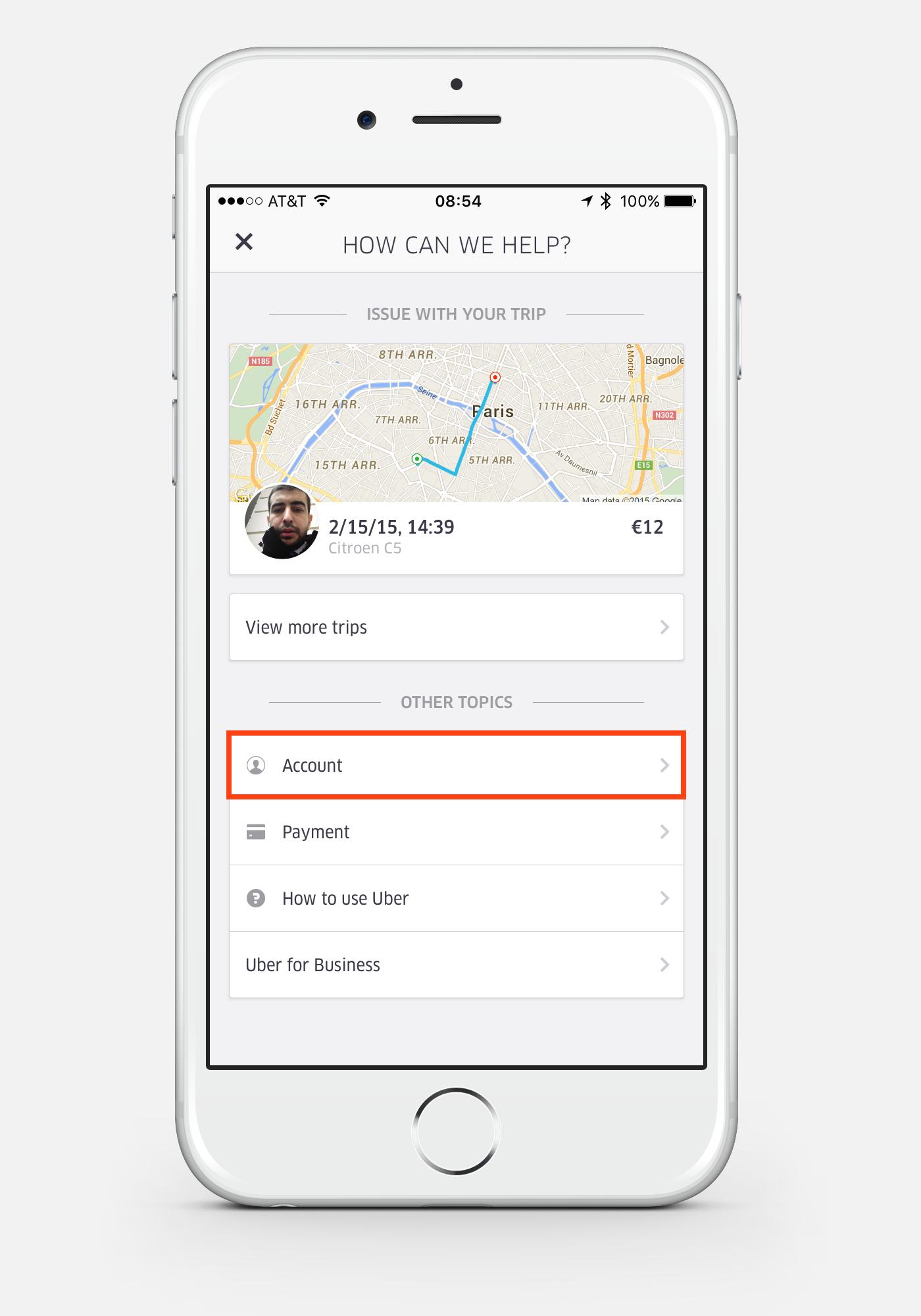 iPhone Uber App