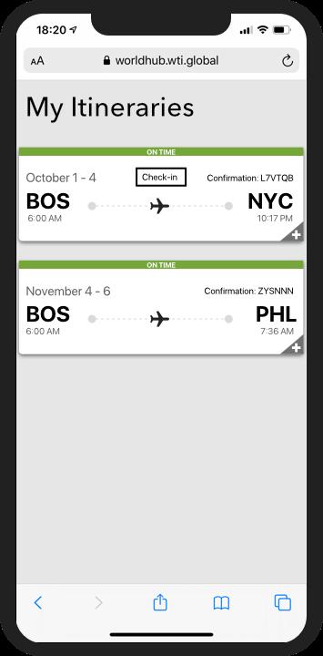 Itinerary App