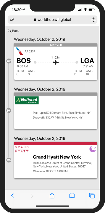 Itinerary Timeline