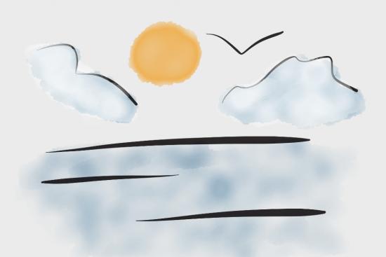 Ocean Sky Drawn